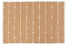 Optik Flat-Weave Rug, Caramel