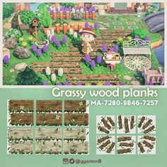 Animal Crossing Wild World, Animal Crossing Game, Water Island, Animal Crossing Qr Codes Clothes, Path Design, Motifs Animal, Animal Games, Wood Planks, Crafts To Do