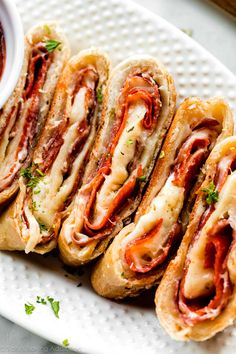 Stromboli Dough Recipe, Homemade Stromboli, How To Make Stromboli, Calzone, Italian Dishes, Italian Recipes, Pasta, Quiche, Cheesy Breadsticks