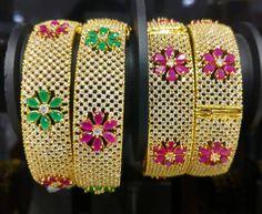 Beautiful Bridal Stone Bangles, Wedding Stone Bangles Designs, Gold Plated Stone Bangle Designs.
