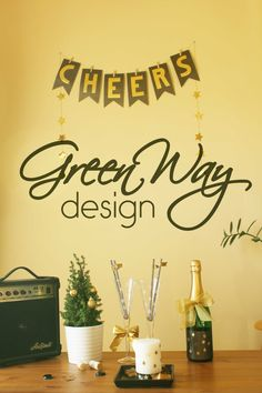 DIY banner for new years eve party