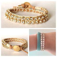 Swarovski Rhinestone Wrap bracelet by itchelita on Etsy. $34.00 USD, via Etsy.