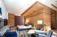 Holz, Schlafzimmer, Zeitgenössische Architektur, Mexiko Stadt, Bettwäsche,  Wohnheim Zimmer, Wohnungen, Foto Galerien, Räume