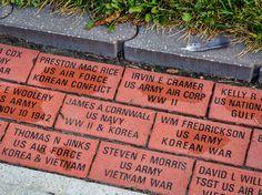 For four generations, Rome Monument has specialized in custom commemorative bricks and memorials. 7 locations in Pittsburgh and Western Pennsylvania. Veterans Memorial, Veterans Day, Brick Walkway, Walkway Ideas, Bricks For Sale, Prayer Garden, Memorial Ideas, Naval Academy, Memories