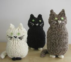 "3 ""Knitted"" Kitties"