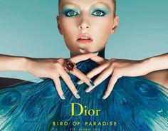 Dior makeup: Bird of Paradise Summer 2013 - blue make up