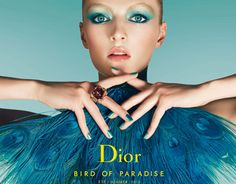 Dior makeup: Bird of Paradise Summer 2013 - blue make up