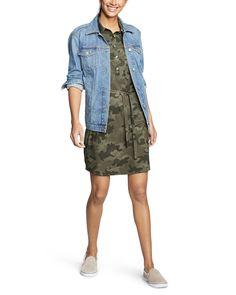 e3eb431e155 Sleeveless Shirt Dress
