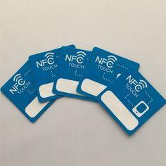 35x35m Logo tipo imprimible 2 504 Bytes Ntag215 NFC pegatina