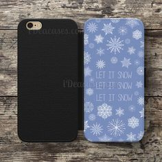 Snowfall  Let It Snow Wallet Case For iPhone 6S Plus 5S SE 5C 4S case, Samsung Galaxy S3 S4 S5 S6 Edge S7 Edge Note 3 4 5 Cases