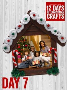 12 Days of Christmas Crafts: Day 7 - Craft Project Days of Christmas Crafts: Day 7 - Craft Project Ideas Contemporary Accessories with Frame Types By placing your photos inside it, you can easily pl. Kids Christmas Ornaments, Preschool Christmas, Christmas Crafts For Kids, Christmas Activities, Christmas Art, Holiday Crafts, Christmas Decorations, Christmas Picture Frames, Picture Frame Ornaments