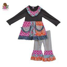 Envío gratis otoño invierno moda de nueva muchachas del niño de traje de  algodón ropa de bebé de 2 unidades que arropan sistemas con bolsillos F072 8c214d60cda