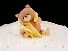 Gum paste baby shower bear!