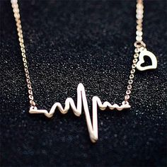 ⚠Sale⚠Gold Heartbeat Doctors/Nurses Necklace New Jewelry Necklaces Cheap Necklaces, Silver Necklaces, Jewelry Necklaces, Necklace Types, Collar Necklace, Arrow Necklace, Jewelry Accessories, Women Jewelry, Chokers