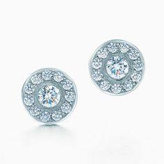 Tiffany Circlet earrings of diamonds in platinum.