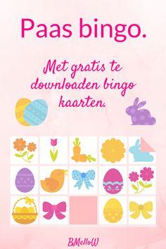Paas bingo. Voor de allerkleinste een leuke Paas bingo. Gratis te downloaden. BMelloW Easter Activities, Easter Crafts For Kids, Diy For Kids, Bingo For Kids, Young Living Oils, School Lessons, Easter Bunny, Homemade, Spring