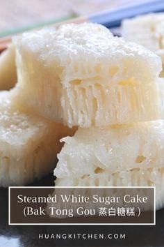 Glutinous Rice Cake Recipe, Chinese Steam Cake Recipe, Puto Recipe, Chinese Cake, Steamed Rice Cake, Rice Cake Recipes, Rice Cakes, Baking Recipes, Dessert Recipes