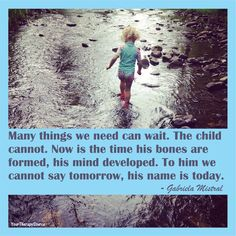 Child development can not wait - www.yourtherapysource.com