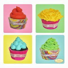 Beijos Açucarados  Cupcakes Coloridos (Colorful Cupcakes)