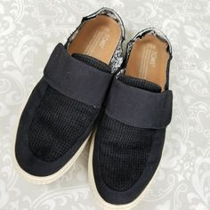 b8386fc83e6 TOMS Altair Womens Slip On Shoes Size 8.5 Black Canvas Mesh (ALTERED)  Toms   Flats