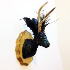 Iridescent Feather Jackalope Faux Taxidermy by ImaginationFactorie, $200.00