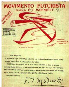 marinetti stationery 1918