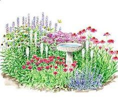 Photos Of Full Sun Perennial Flower Beds | Butterfly Garden Plants, Butterfly  Garden Plans,