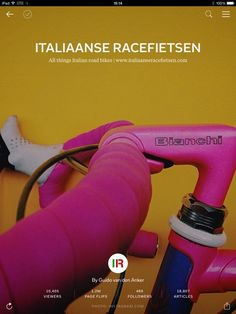 The ultimate Flipboard magazine dedicated to Italian road bicycles, with plenty of Colnago, Pinarello, Cinelli, Bianchi, Campagnolo and many more brands. Read it here: flip.it/pkQZb