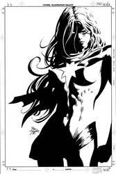 Captain Marvel Carol Danvers – The Ms. Marvel Years Vol. Cover by Mike Deodato Jr. Ms Marvel, Marvel Art, Punisher Marvel, Marvel Girls, Comic Book Girl, Comic Book Artists, Comic Artist, Mike Deodato, Black And White Comics