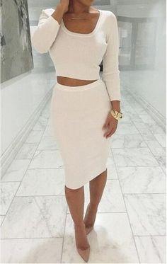 Autumn Winter 2 Pcs Women Sets Long Sleeve Midi Pencil Bodycon Vestidos Casual Office Clothing Elegant Slim Bandage Dresses