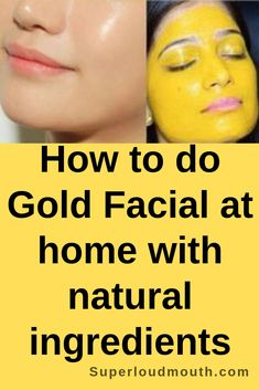 Do you want to get a gold facial done at home itself with inexpensively natural ingredients? Stick around this article to find out how to use a gold facial at home. Natural Hair Mask, Natural Facial, Natural Skin Care, Natural Hair Styles, Natural Beauty, Essential Oils For Face, Glowing Face, Gold Face, Thing 1