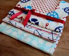 Another gift idea! Nautical Baby Bib Set  Baby Shower Gift by kikidelrico on Etsy,  #PampersPinParty