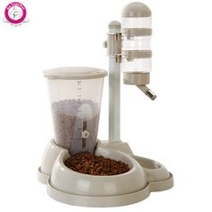 Pet Automatic Dog Cat Feeder Detachable Wash Water Drinking Food Fountains Dispenser 4. Type:DogsMaterial:PlasticVolume:500mlLCD Display:NoMax Output:800gMin Output:50gVoltage:OtherPower Source:OtherSKU:PH3092Color:Wine Red,Green,Beige,Blue