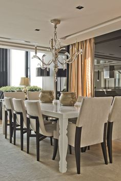Apartamento clássico (Foto: Marcelo Stammer/Divulgação) Dining Area, Dining Table, Dining Rooms, Zen Style, Elegant Dining, House Goals, Living Spaces, New Homes, Furniture