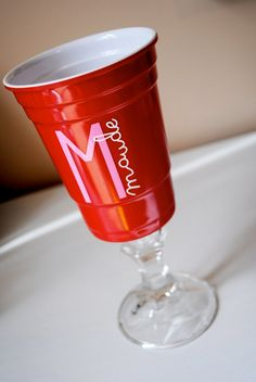 ACRYLIC DURABLE Red Solo Cup / RedNeck Wine Glass