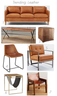 Trending - Leather Home Decor