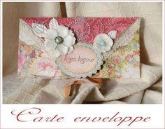 tuto enveloppe Card Envelopes, Mail Art, Scrapbook Cards, Diy Tutorial, Shabby, Blog, Reusable Tote Bags, Paper Crafts, Invitations