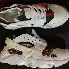 new style cecda bd6b3 Gucci Snake Nike Hurache all white Custom Shoes, Men s Fashion, Footwear on  Carousell. Illianna Soto · Huarache · nike huarache x supreme x lv ...