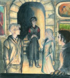 "The Fourth Champion by burdge-bug.deviantart.com on @deviantART    ""What is it?"" she said. ""Do zey want us back in ze Hall?""    She thought he had come to deliver a message. Harry didn't know how to explain what had just happened. He just stood there, looking at the three champions. It struck him how very tall all of them were.  -page 274, Harry Potter and the Goblet of Fire"