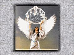 Image detail for -Lovely Native American Angel lifting her Dreamcatcher to the sky. All ...