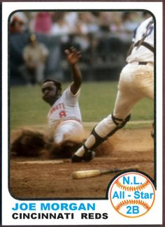 1973 Topps Joe Morgan All-Star. Baseball Cards That Never Were, Cincinnati Reds Pittsburgh Pirates Baseball, Cincinnati Reds Baseball, Funny Baseball, Baseball Stuff, Football Cards, Baseball Cards, Johnny Bench, Star Cards, National League