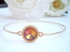 Volcano Bangle Bracelet - Swarovski Crystal Bangles - Crystal Bracelets - Wedding Jewellery - Bridal Jewelry - Bridesmaid Gifts by GlamorousSparkle on Etsy