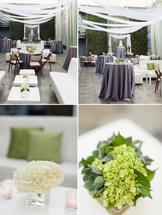 Things I love: The floorplan with the mix of tables, the lounge, the gray, and the flowers. Pretty much everything.