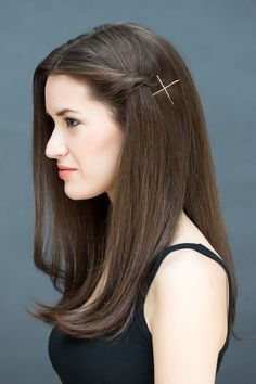Do the twist and pin. This hairstyle is perfect for someone with fine hair.