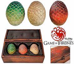 Estuche con Huevos de Dragón.   Merchandising Juego de Tronos