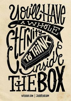 True - Typography Mania #171 - Inside The Box -Jay Roeder version- a WRDBNR/Jay Roeder collaboration.