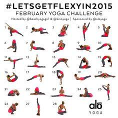 """Announcing the FEBRUARY YOGA CHALLENGE! #LetsGETFlexyIn2015 Sponsored by @aloyoga Hosts: @beachyogagirl and @kinoyoga  This Yoga Challenge is for ALL…"""