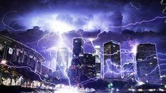 la. lightning storm