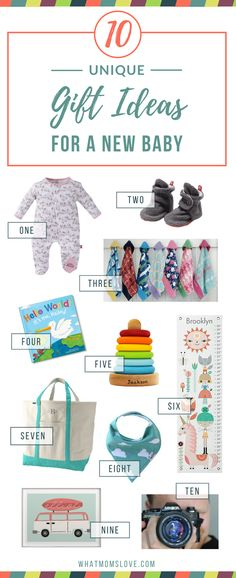Having a hard time thinking of the perfect gift to welcome that new baby in your life? We've rounded up 10 unique gift ideas that are sure to be a hit with baby and parents (bronze baby shoes not included)!