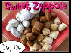 Sweet Zeppole Recipe [DAY 106] ★ watch the video: https://www.youtube.com/watch?v=7mo1z7eDd3c&index=1&list=PLGRnDhMJALhGSPvJl_zKgtNg2YZPaYf1S ★  I'm trying A NEW RECIPE OF Laura in the Kitchen EVERY DAY and sharing its conversion into the metric system, come and join me on my yummy challenge! :)